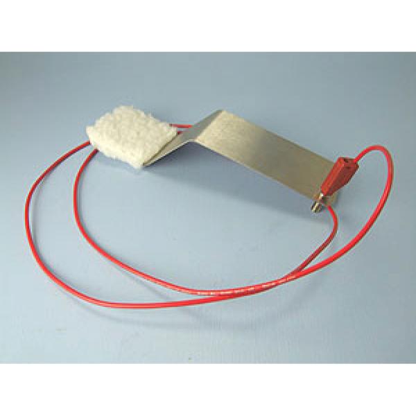 Breite Elektrode mit Stoffpad und Kabel